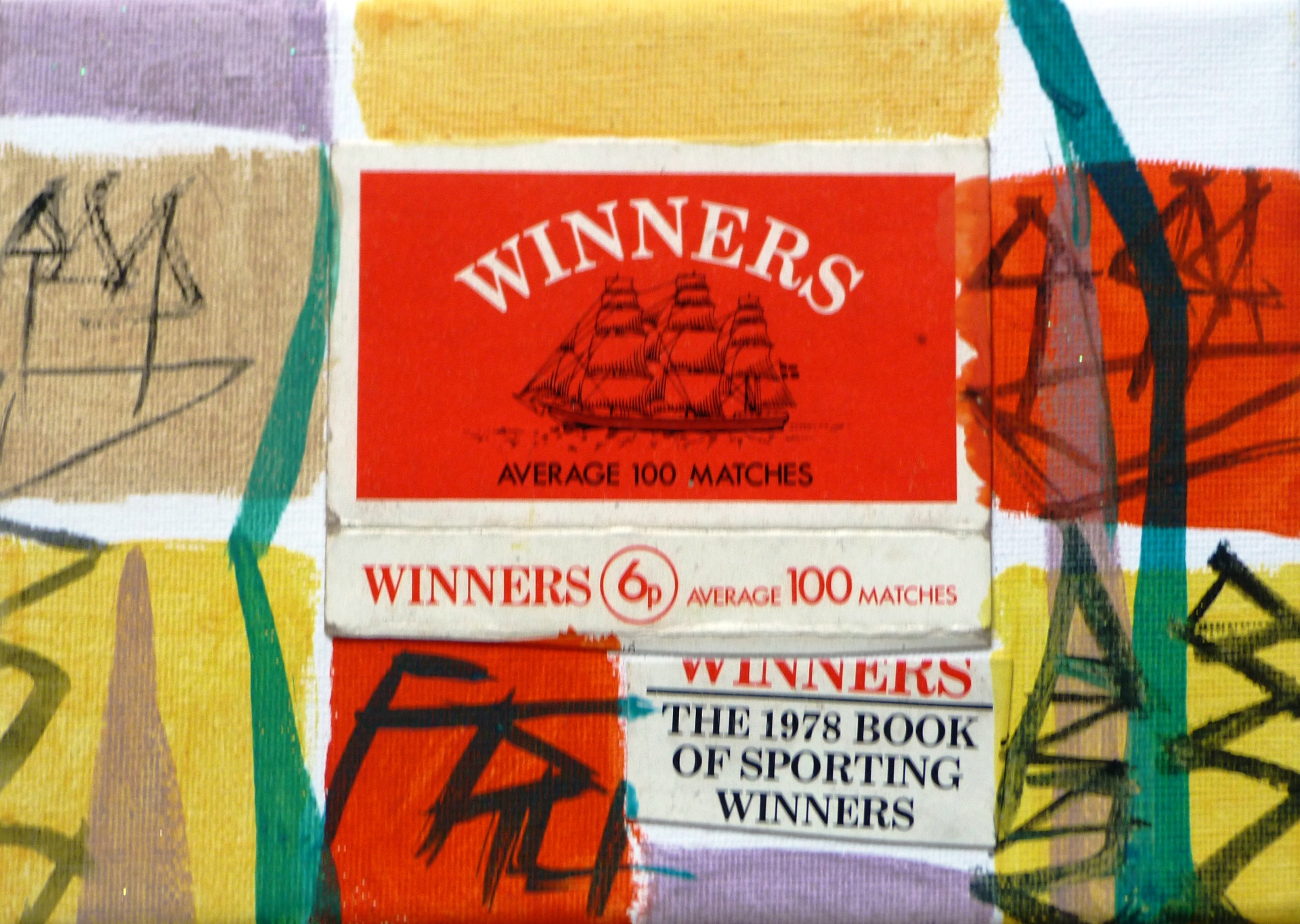 Matchbox Series 26. Winners Matchbox and Acrylic on Canvas. 12.7x17.7x1.5cm. 2014